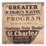 los caballeros prefieren a blondes posters