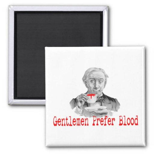 Los caballeros prefieren sangre imán para frigorifico