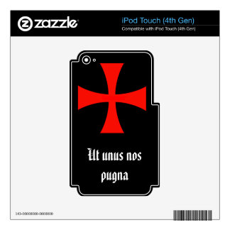 Los caballeros Templar, luchamos como uno Calcomanía Para iPod Touch 4G