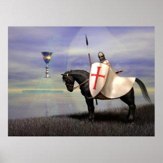Los caballeros Templar y el Grail Póster