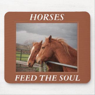 Los caballos alimentan el alma Mousepad Alfombrilla De Raton