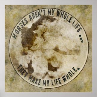 los caballos aren t mi poster del toda la vida