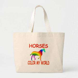 Los caballos colorean mi mundo bolsa