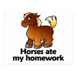 Los caballos comieron mi preparación postal