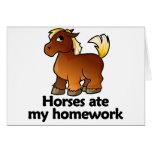 Los caballos comieron mi preparación tarjetas