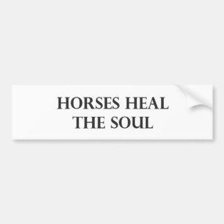 Los caballos curan el alma etiqueta de parachoque