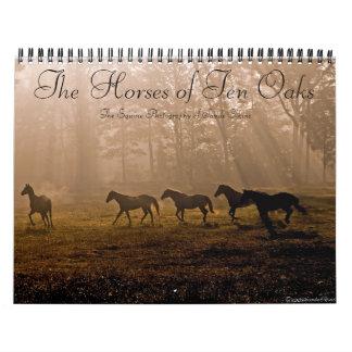 Los caballos de diez robles calendarios