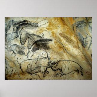 Los caballos de la cueva de Chauvet y la otra Póster