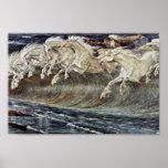 Los caballos de Neptuno por la grúa Gualterio Poster