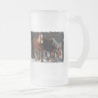 Los caballos de proyecto belgas helaron la taza de