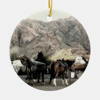 los caballos ornamento para arbol de navidad