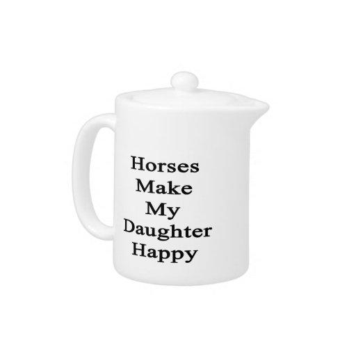 Los caballos hacen a mi hija feliz