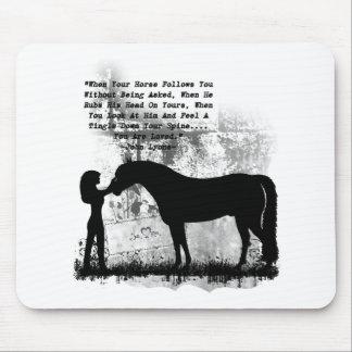 Los caballos le aman alfombrillas de ratones