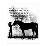 Los caballos le aman tarjetas postales