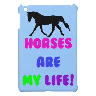 Los caballos lindos son mi caso del iPad ecuestre iPad Mini Funda