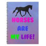 Los caballos lindos son mi cuaderno de la vida