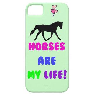 Los caballos lindos son mi iPhone de la vida 5 Funda Para iPhone 5 Barely There