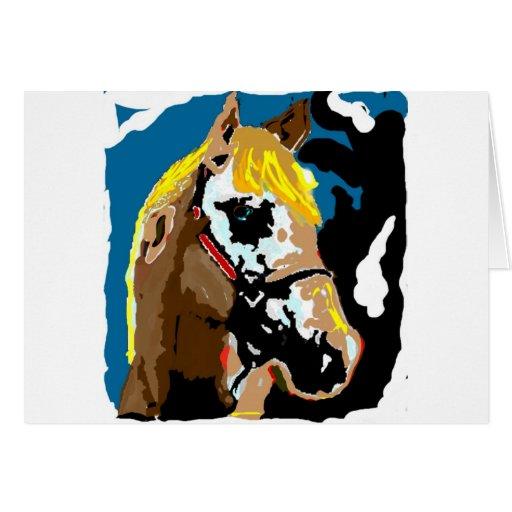 Los caballos llenan nuestras vidas de color tarjeta de felicitación