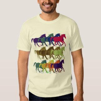 los caballos modelan, los animales del campo camisas