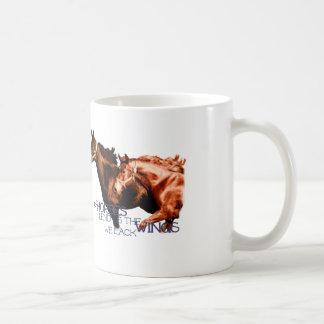 Los caballos nos prestan las alas que carecemos la taza
