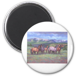 Los caballos salvajes de Oregon Imán De Nevera