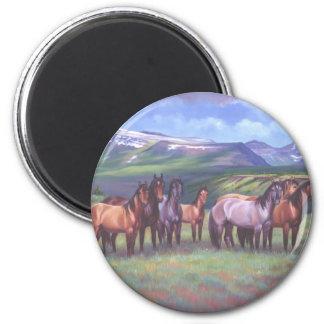 Los caballos salvajes de Oregon Iman De Nevera