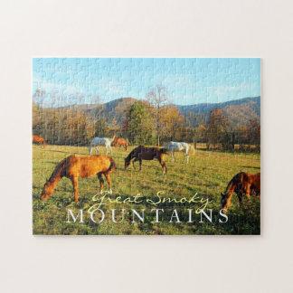 Los caballos salvajes - ensenada de Cades - juegan Puzzles