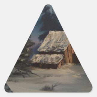 Los caballos se dirigen pegatinas triangulo