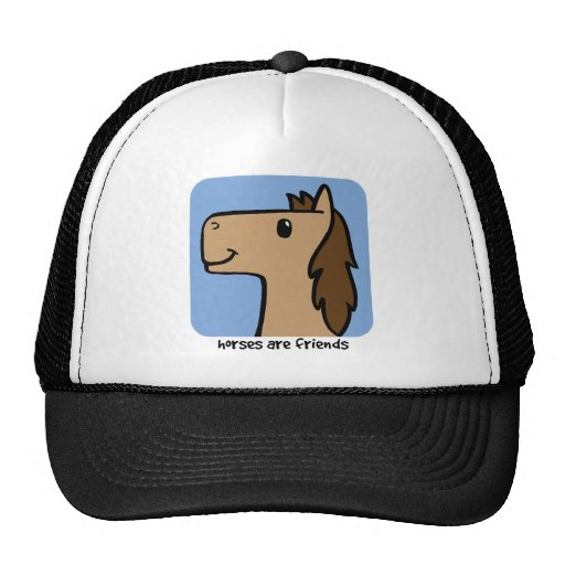 Los caballos son amigos gorro de camionero