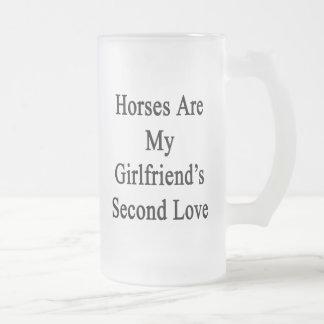 Los caballos son el amor de mi novia en segundo lu tazas