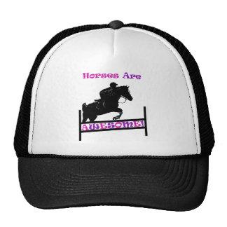 Los caballos son impresionantes gorro de camionero