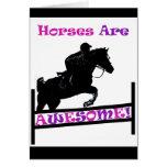 Los caballos son impresionantes tarjetas