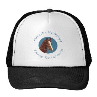 Los caballos son mi terapia gorras