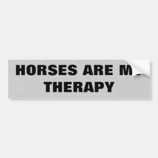 Los caballos son mi Therepy - remolque del caballo Pegatina Para Coche