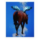Los caballos tienen ángeles plantilla de membrete