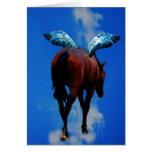 Los caballos tienen ángeles tarjeta de felicitación