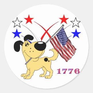 Los Cachorros Classic Round Sticker