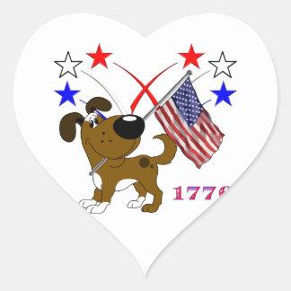Los Cachorros Heart Sticker