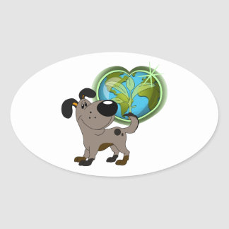 Los Cachorros Oval Sticker
