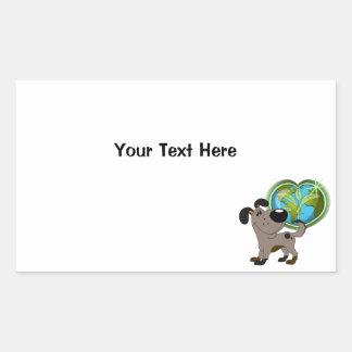 Los Cachorros Rectangular Sticker