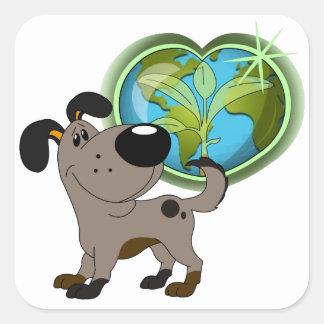 Los Cachorros Square Sticker
