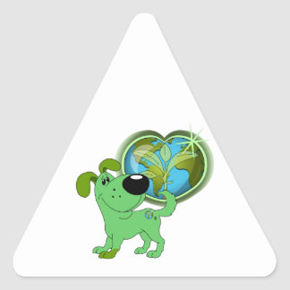 Los Cachorros Triangle Sticker