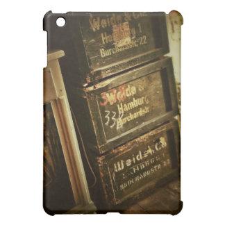 Los cajones apilados antigüedad rústica de las caj iPad mini cobertura