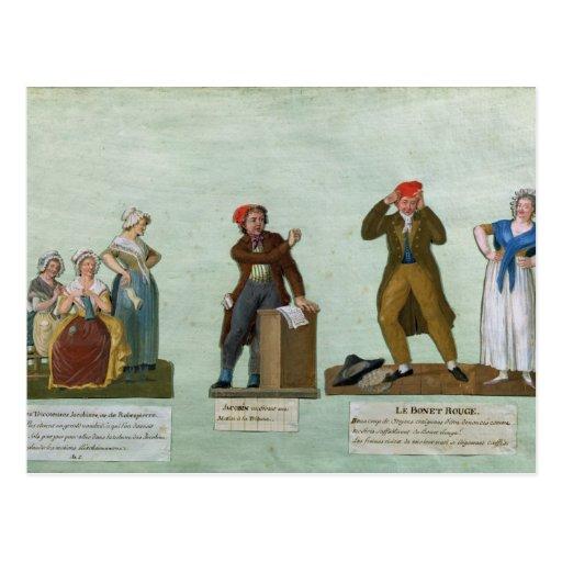 Los calceteros de Jacobin Tarjetas Postales