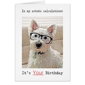 Los cálculos de Westie, es su cumpleaños Tarjeta De Felicitación