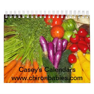 Los calendarios de Casey - frutas y Veggies