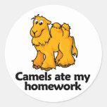 Los camellos comieron mi preparación etiqueta redonda