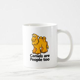 Los camellos son gente también taza de café