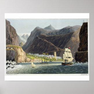 Los caminos, St. Helena, grabada por Roberto Havel Posters
