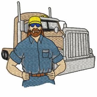 Los camioneros bordaron la camisa sudadera con capucha